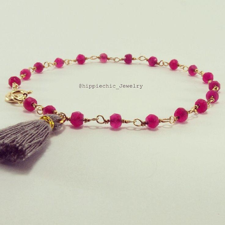 #rosario #bracelet #hippiechic #ruby #gold #handmade soon on etsy!