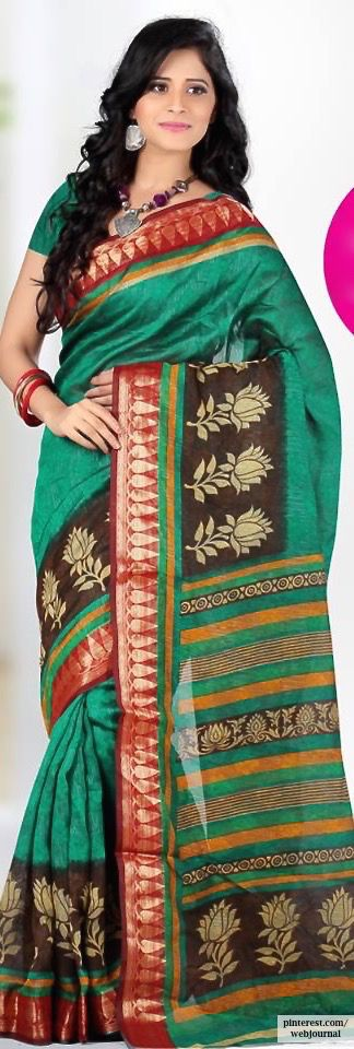 Silk with Zari border - Vismay