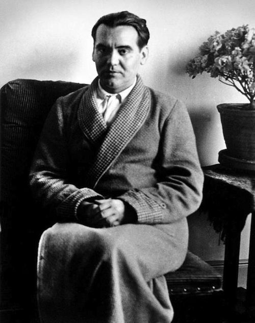 """At the heart of all great art is an essential melancholy.""     —Federico García Lorca"