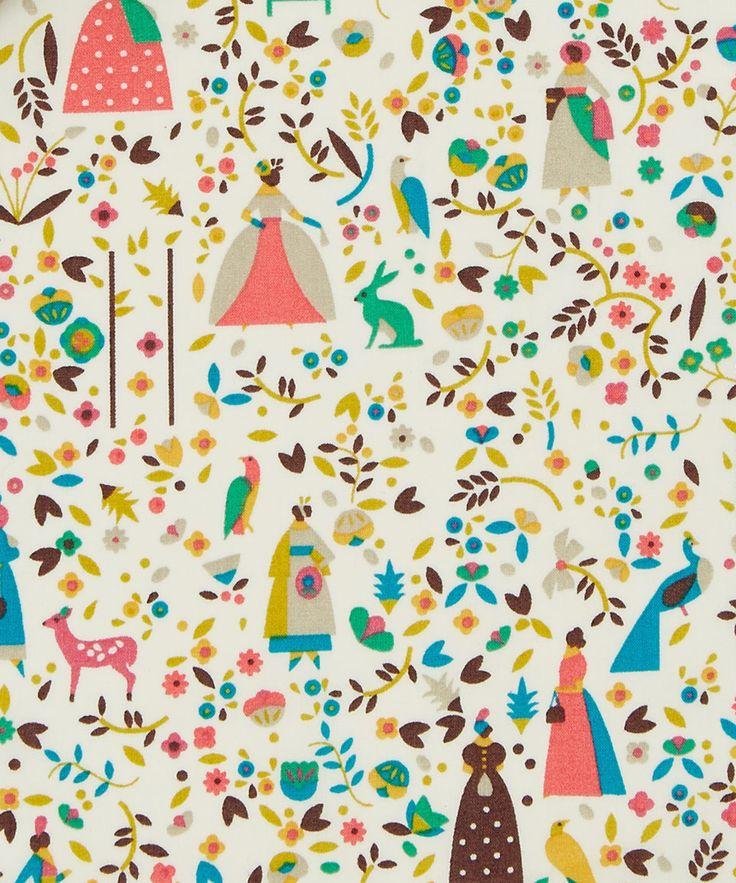 Liberty Art Fabrics Lotta C Tana Lawn Cotton | Fabric | Liberty.co.uk