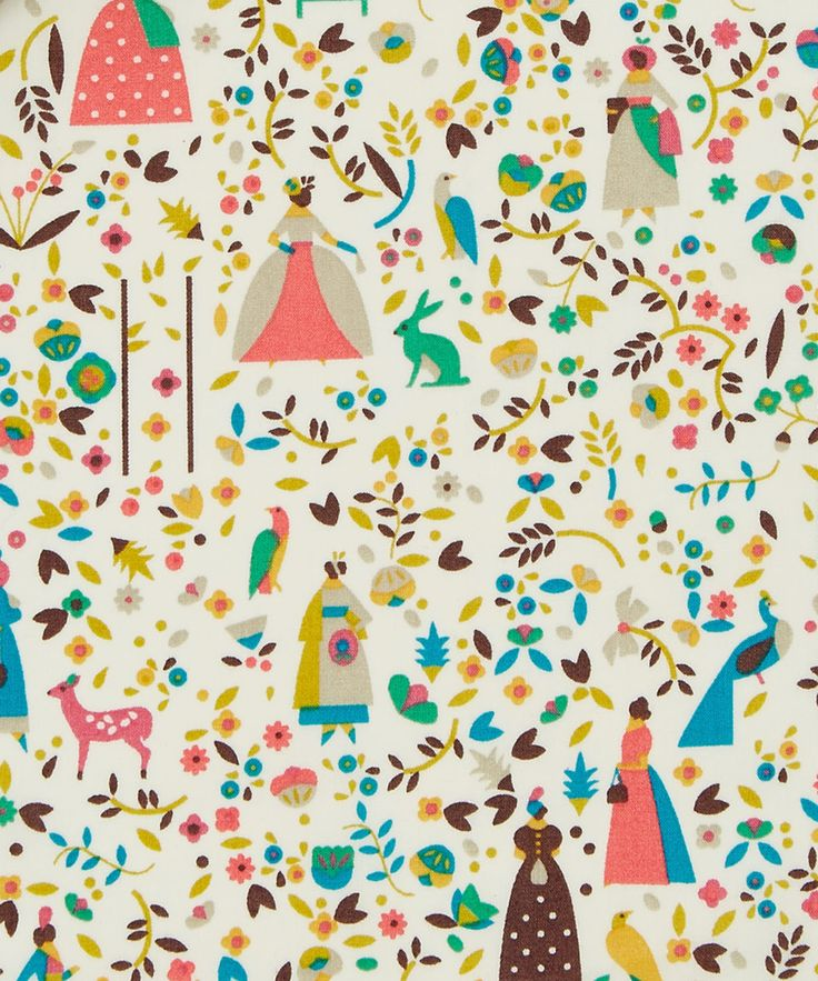 Liberty Art Fabrics Lotta C Tana Lawn Cotton | Fabric | Liberty.co.uk
