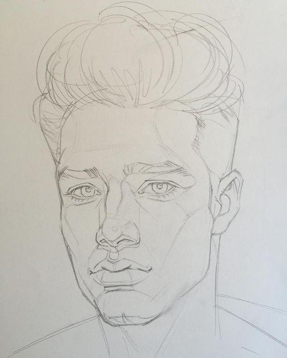 Рисунки мужчин карандашом