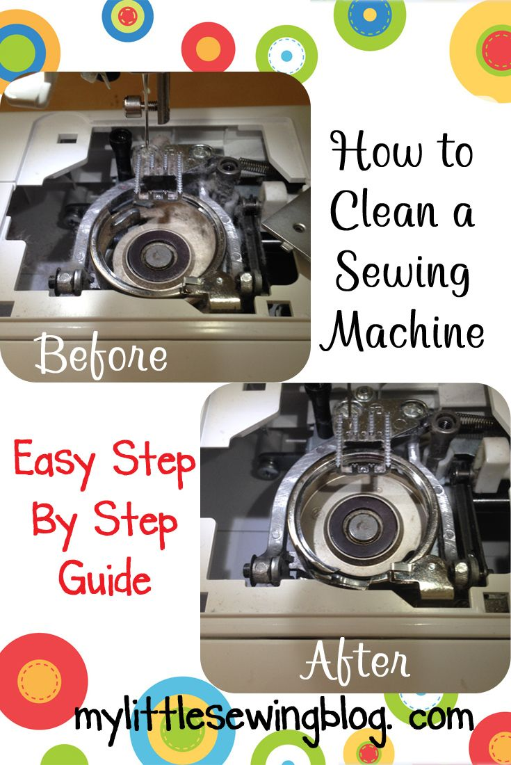A great step by step guide on how to take apart and clean a sewing machine.