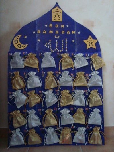 Ramadan countdown calendar with treats