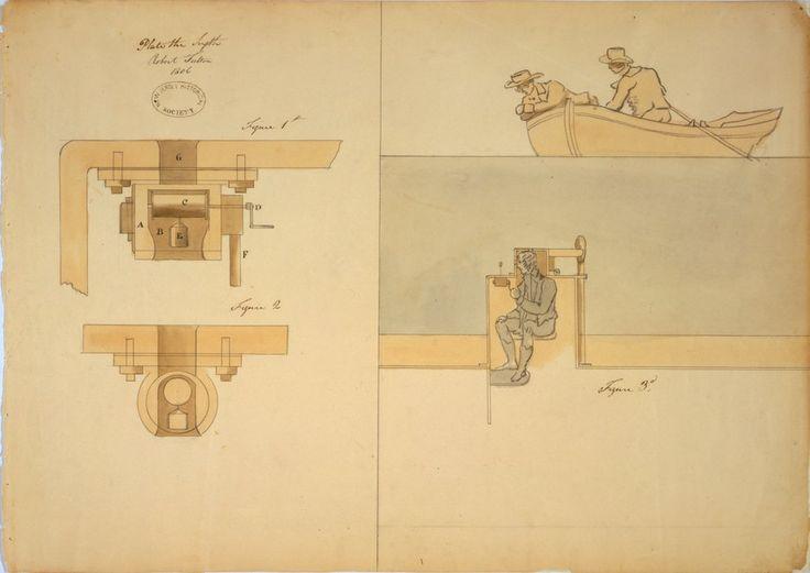 Detalles del puente de mando y el timón del «barco que se sumerge» — Visor — Biblioteca Digital Mundial