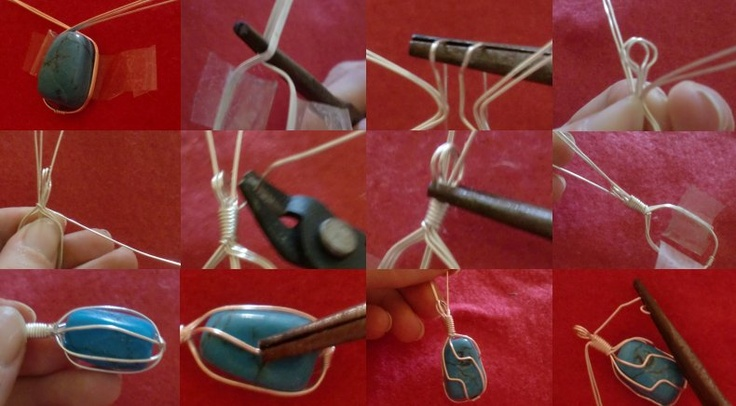 How to wire-wrap stones  I have a few stones that I was thinking of doing this with