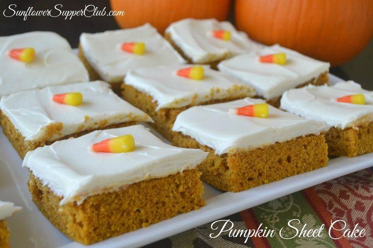 Pumpkin Sheet Cake from  Sunflower Supper Club