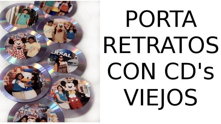 Reciclaje de CD's viejos, Manualidades: Portaretratos con CD's Viejos.