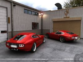 Toyota 2000GT and Mako GT 2