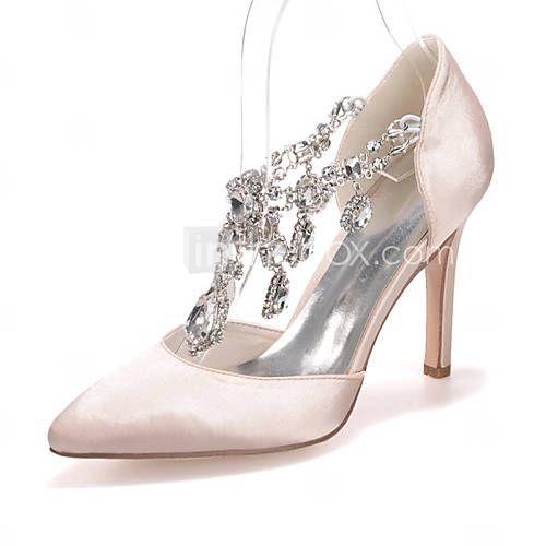 Chaussures de mariage à talon aiguille noires femme jfNC8Bp