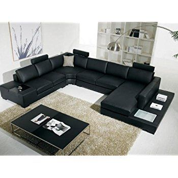 Vig T35 Contemporary Black Leather With Adjustable Headrest And