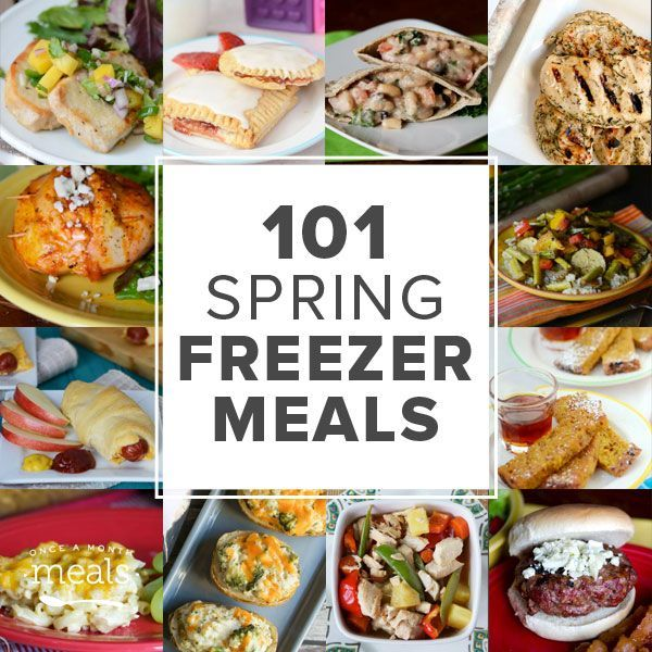 Spring is in the air! Keep sane as the busy season picks up with 101 spring freezer meals.