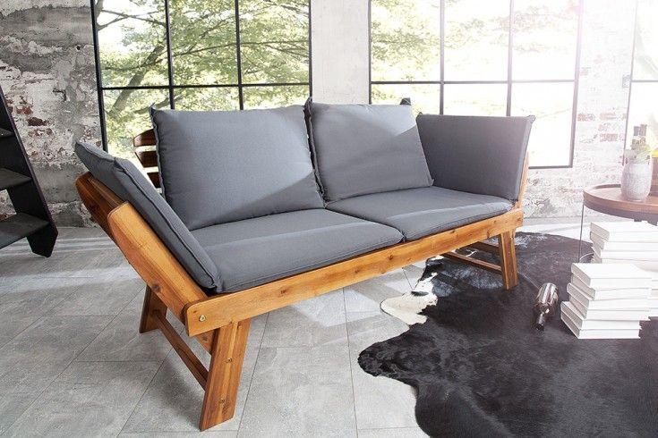 Massive Sitzbank Modular 152cm Akazie Inkl Kissen Gartenbank Klappbar Riess Ambiente De Gartenbank Klappbar Oko Mobel Sofa Design