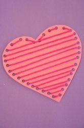 Kindergarten Valentine Heart Craft Extra Yarn