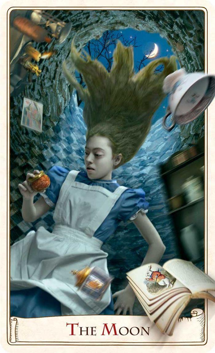 ALICE IN WONDERLAND TAROT - THE MOON - BY BABA STUDIO