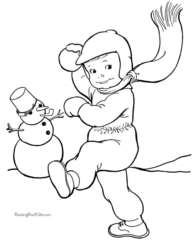 printables snowman coloring page - Fun Printables For Kids