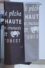 """Torchons """"Retour de Pêche Le Conquet"""""""" 50x75cm"""