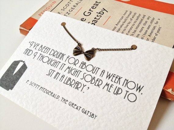 The Great Gatsby Bow Tie Necklace by LiteraryEmporium