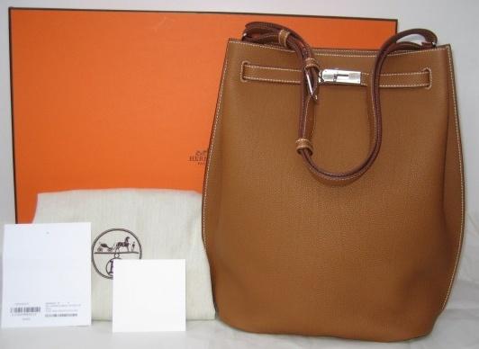 Hermes \u0026#39;So Kelly\u0026#39; 26cm bag. Gold color, Togo leather bag with ...