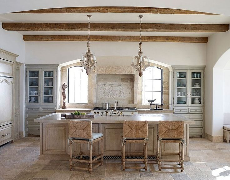 OK diggin this- It will be my kitchen in our next house FOR SURE!!!!    LOVE- LOVE colors-wood-stones used..Beach House by Homer Oatman