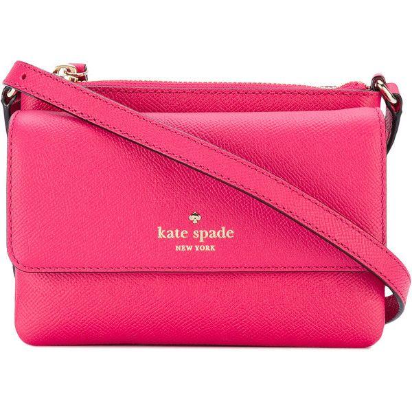 Kate Spade Karlee crossbody bag ($295) ❤ liked on Polyvore featuring bags, handbags, shoulder bags, pink, pink crossbody, kate spade purses, pink shoulder bag, cross-body handbag and kate spade