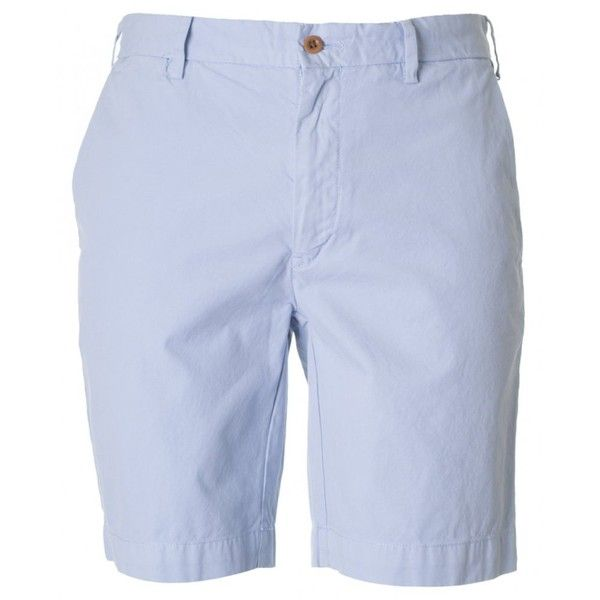 Polo Ralph Lauren Newport Chino Shorts (€145) ❤ liked on Polyvore featuring mens, men's clothing, men's shorts and blue