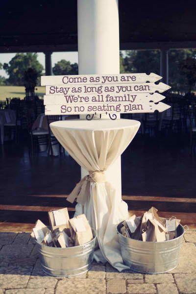 no seat assignments idea wedding