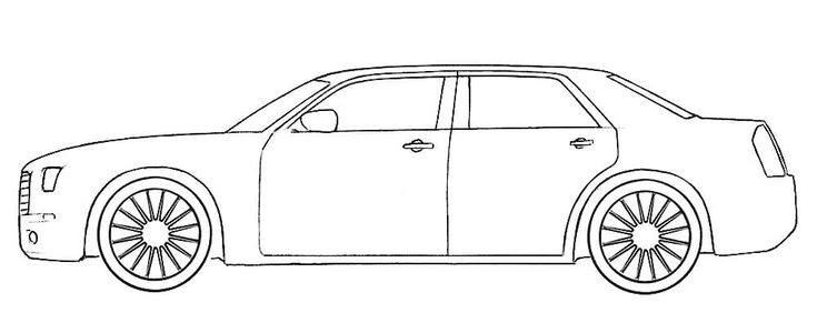 Chrysler 300c Coloring Page in 2020 (With images