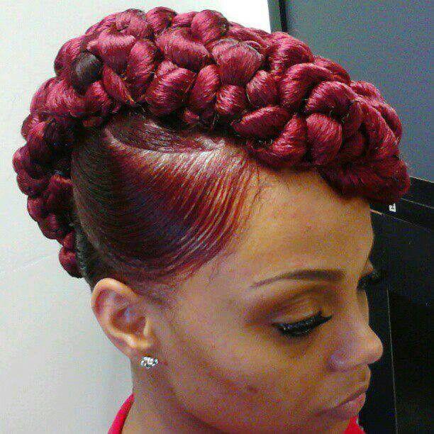 Braided Mohawk Hairstyles Fair 17 Best Hair Images On Pinterest  African Hairstyles African Hair