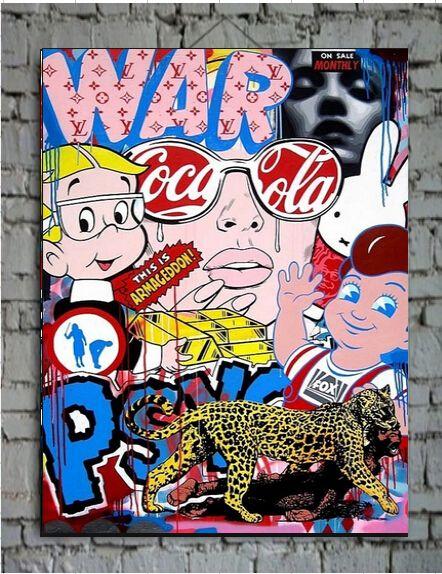 Cheap Arte astratta colorato pop art sfondo pittura murale pittura a olio casa immagine astratta contemporanea di illustrazioni, Compro Qualità…