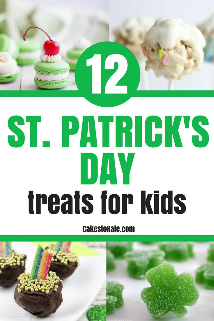 Easy St. Patrick's Day Treats for Kids.  Fun Recipes.