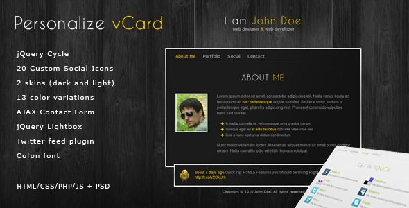 40 best personal virtual business card images on pinterest website 50 personal virtual business card type website templates reheart Image collections