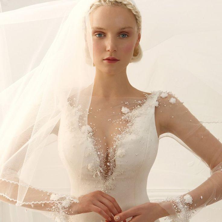 Wedding Dress Hand Made and Made to Measure  Alta Moda Sposa 2015_abiti da sposa con le maniche