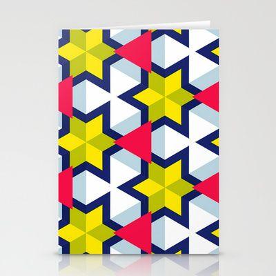 Krijgsman Pattern Stationery Cards by Stoflab - $12.00