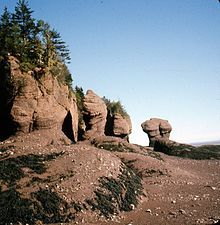 Eroded rock formations at the Bay of Fundy