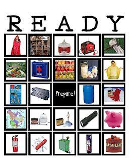 READY bingo - it's bingo for emergency preparedness!  So loving this!