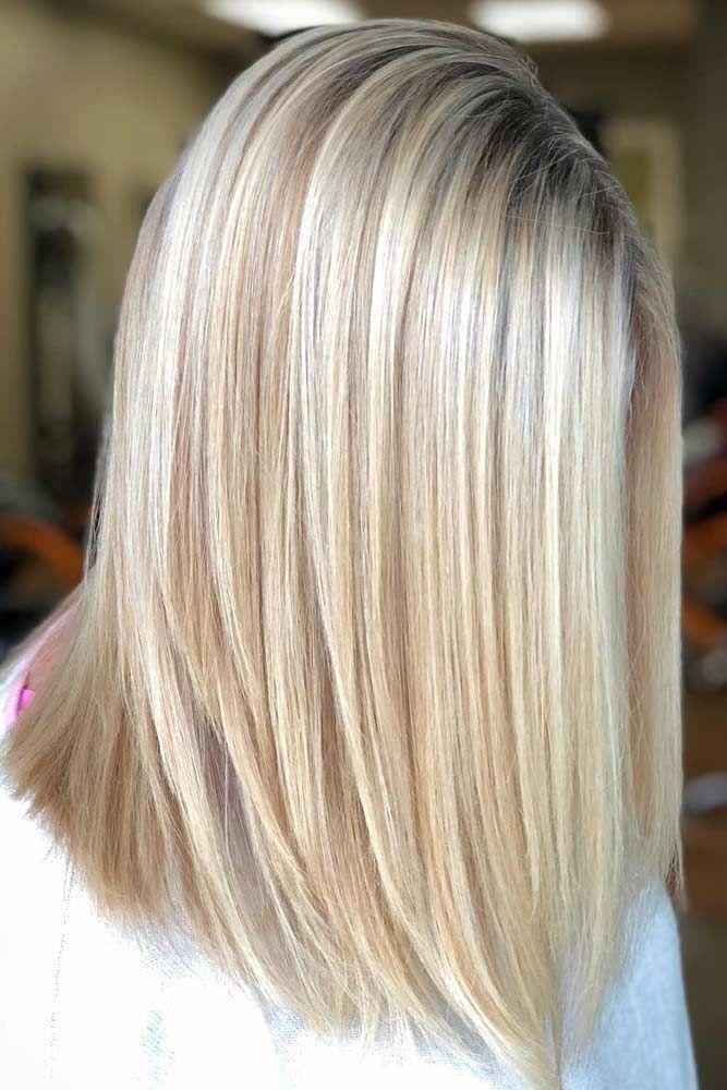 Straight Light Blonde Hair Short Straight Hair Straight Hairstyles Hair Styles
