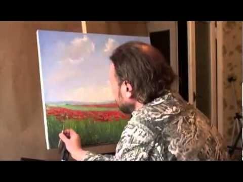▶ FREE: I. Sakharov. How to paint a poppy field - YouTube