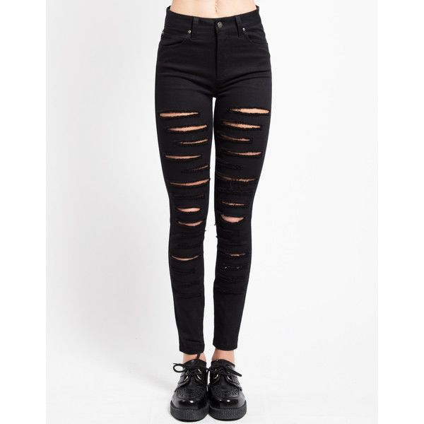 HIGH WAIST CAT FIGHT JEAN ❤ liked on Polyvore featuring jeans, white high waisted jeans, white jeans, highwaist jeans, high-waisted jeans and high rise white jeans
