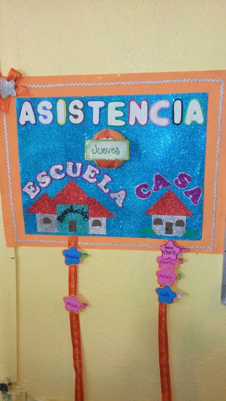 Control de asistencia decoracion aula pinterest for Decoracion salas jardin de infantes