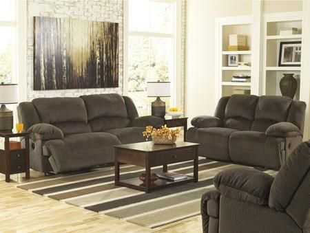 Toletta 56701PSLR 3-Piece Living Room Set with 2-Seat Power Reclining Sofa Power Reclining Loveseat and Zero Wall Power Recliner in Chocolate
