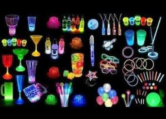 Neon Party Themes Decorations Decoration Ideas Time Glow Debutante 40th Birthday Parties 40