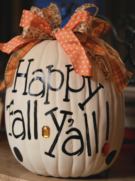 Happy Fall Y'all Pumpkin Private Listing by MyHeartworkBoutique, $35.00