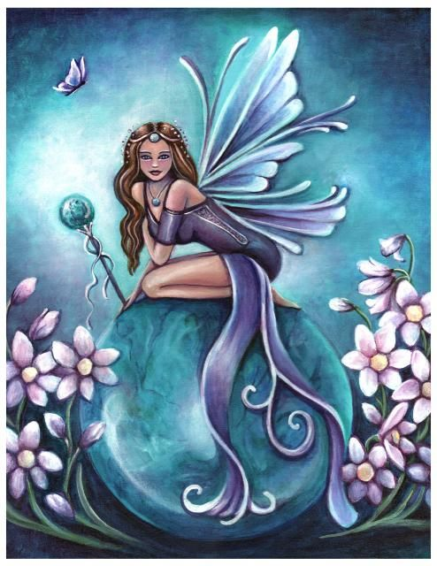 turquoise december birthstone fairy by jennifer galasso