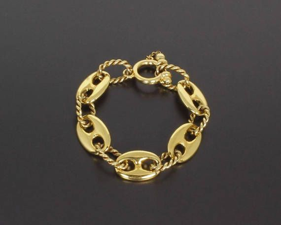 Engaging Vintage 1990s Rope Mariners Gucci Chain Bracelet