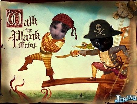 "Razz & Buggles - Pirate names: Decrepit Quinn Barbossa and ""Sharkbait"" Randal Straw"