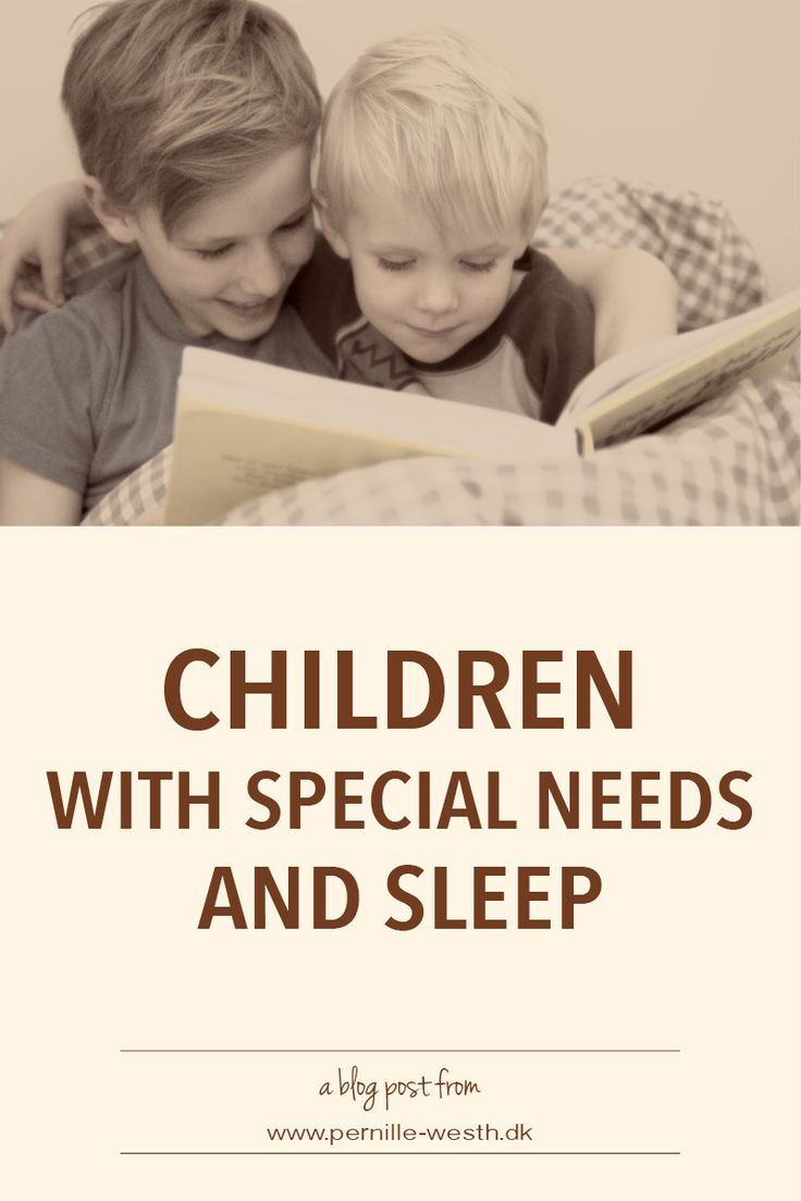 Sleep is essential for children, and children with special needs will benefit from getting enough sleep. Read my blog post; http://www.pernille-westh-blog.com/single-post/2016/08/11/Children-With-Special-Needs-and-Sleep