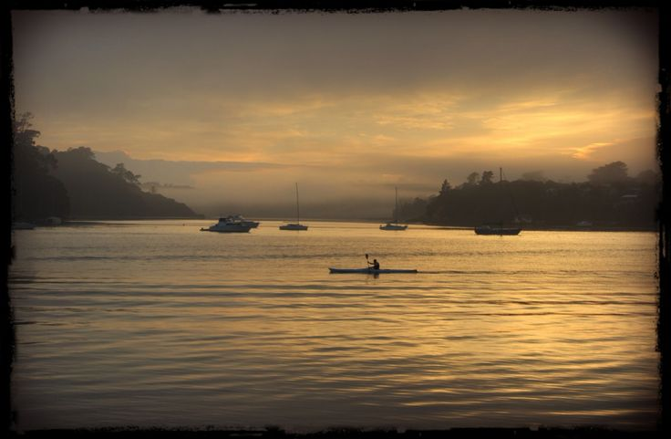 Lone kayak on the harbour, Hobsonville Point, Auckland. Photo: Su Leslie, 2015