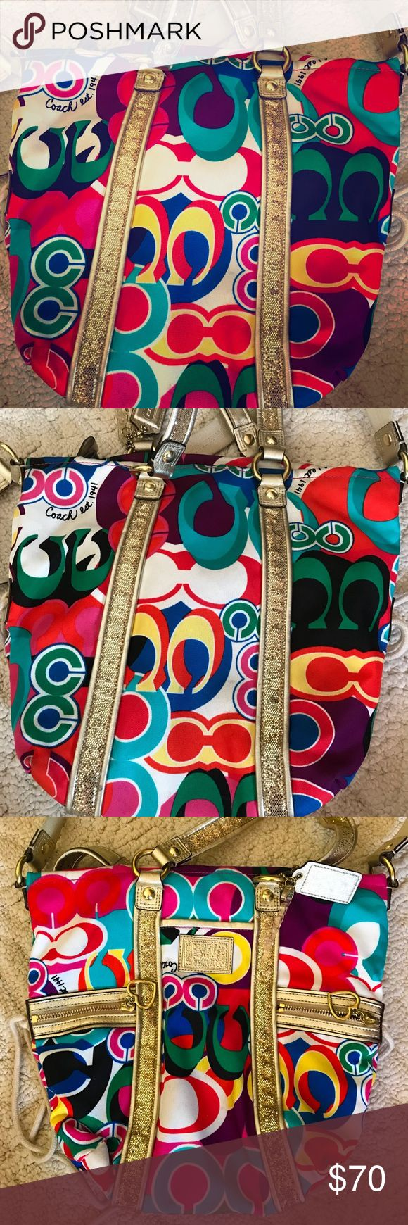 Coach Purse Cute, fun & flirty! This is the Coach bag for the woman who has every other color! Coach Bags Hobos