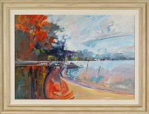 #13520 Ken Strong 'Red sky in the morning' 84cm x 110cm